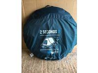 Quechua 2 Seconds Pop Up Tent 3 Man Person Waterproof Outdoor Camping Blue
