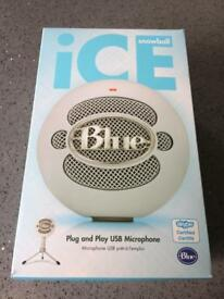 Blue ice snowball microphone new