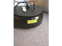 Vibrating plate/shake plate with remote control excellent condition £150 ono