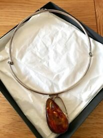 Unusual,Genuine Amber Fine Jewellery Choker