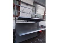 Shop fitting frame. Shelf unit or can be used with bars and hooks