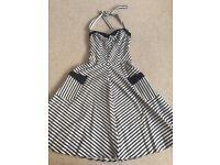 Black & white stripe dress size 10