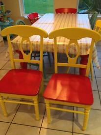 Up cycled Kitchen chairs