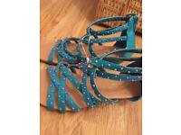 Lovely girls Monsoon beaded wedge sandals NWT cost £22 size 11