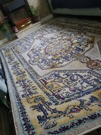 New 160x230cm large vintage print rug