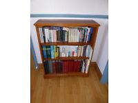 Stag Richmond cherry wood three shelf bookcase.
