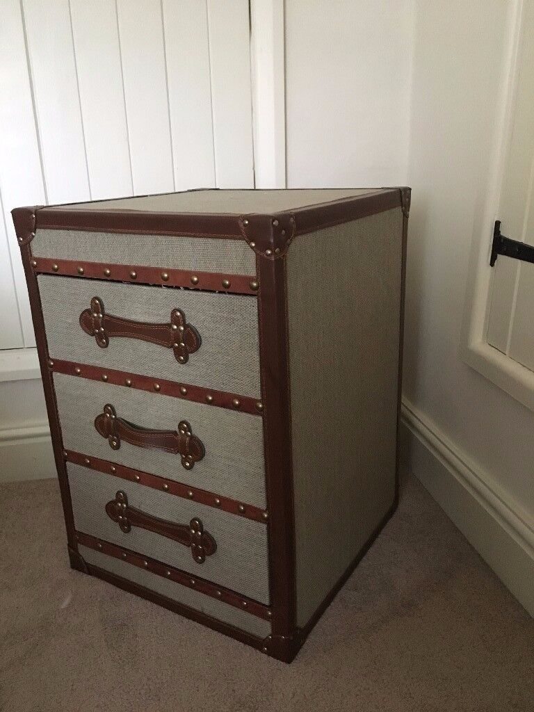Cool, Stylish Bedside Chest of Drawers x 2