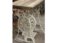 Stunning Vintage Shabby Chic Cast Iron Rare Antique Singer Sewing Machine Table