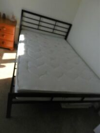 Black metal small double bed frame brand new