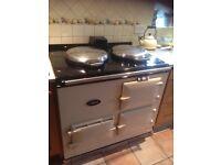 Cream Gas 2 oven Aga