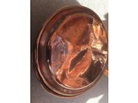 Beautifully pattern antique copper bed warming pan