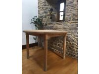 Vintage Pine Dining Table - lovely markings - good condition - to seat 4 - hand made sturdy table