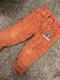 Boys brown trousers 12-18 months sainsburys