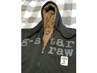G-Star Raw Mens Fleece Hoodie - XL - Black/Tan - Perfect condition - Hardly worn