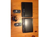 "TECHNIKA 9"" DUAL/TWIN PORTABLE DVD PLAYER PDVD9DUAL"