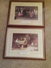 Two framed prints by Frederick Daniel Hardy (1826-1911)
