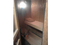 Nordic 4 person Sauna for sale. £500 ono. Includes stove & timer switch gear. Can be seen working