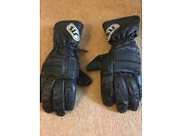 Motorbike motorcycle leather gloves size small s excellent condition