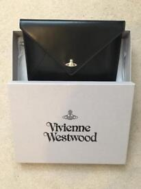 Vivienne Westwood BRAND NEW Black Leather Private Clutch Bag