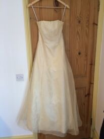 Pale Yellow Prom Dress/Evening Gown, American Designer- Size USA 5 (UK 6-8)