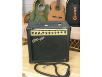 Compact 33W. guitar amplifier, or for other electrical instruments e.g. violin, piano etc.
