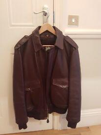 Schott mens leather flight jacket - never worn