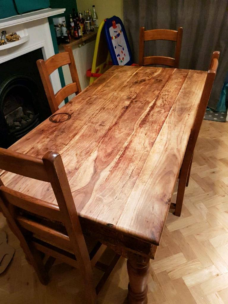 6' Dining Table and 4 Chairs | in Plymouth, Devon | Gumtree