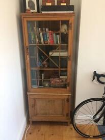 Glass Pine Cupboard
