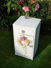 Pretty ornate shabby chic bedside table