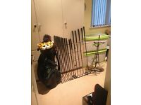 Titleist Graphite Shafted Golf Clubs and Trolley with Adidas Bag Full Set