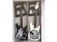 Guitar miniature ornamental with stand ten inches led zepplin