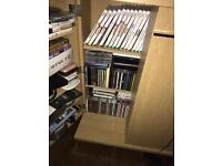 Cd's and storage cabinet