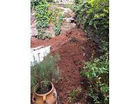 Free soil around 5 ton bags