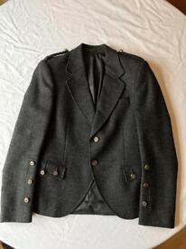 Grey tweed kilt jacket and waistcoat