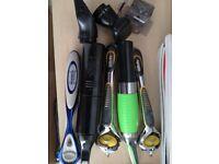 Various mens razors nose trimmer etc