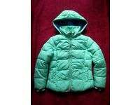 Girls Next Green Coat Age 7-8 Years IP1
