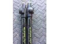 "2 x 48"" Fox storm pole/bank sticks cam lock for Trakker/Aqua bivvys/brollys carp fishing"