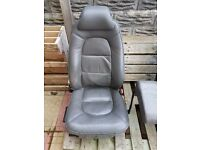 Saab 9000 Leather front seats - for camper/van - flat base for mounting