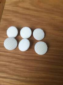 Set of 6 cream buttons *new*