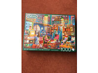 FALCON DE LUXE 1000 PIECE JIGSAW PUZZLE-AN AFTERNOON IN THE BOOKSHOP