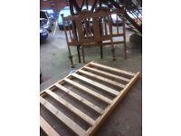 timber bedframe
