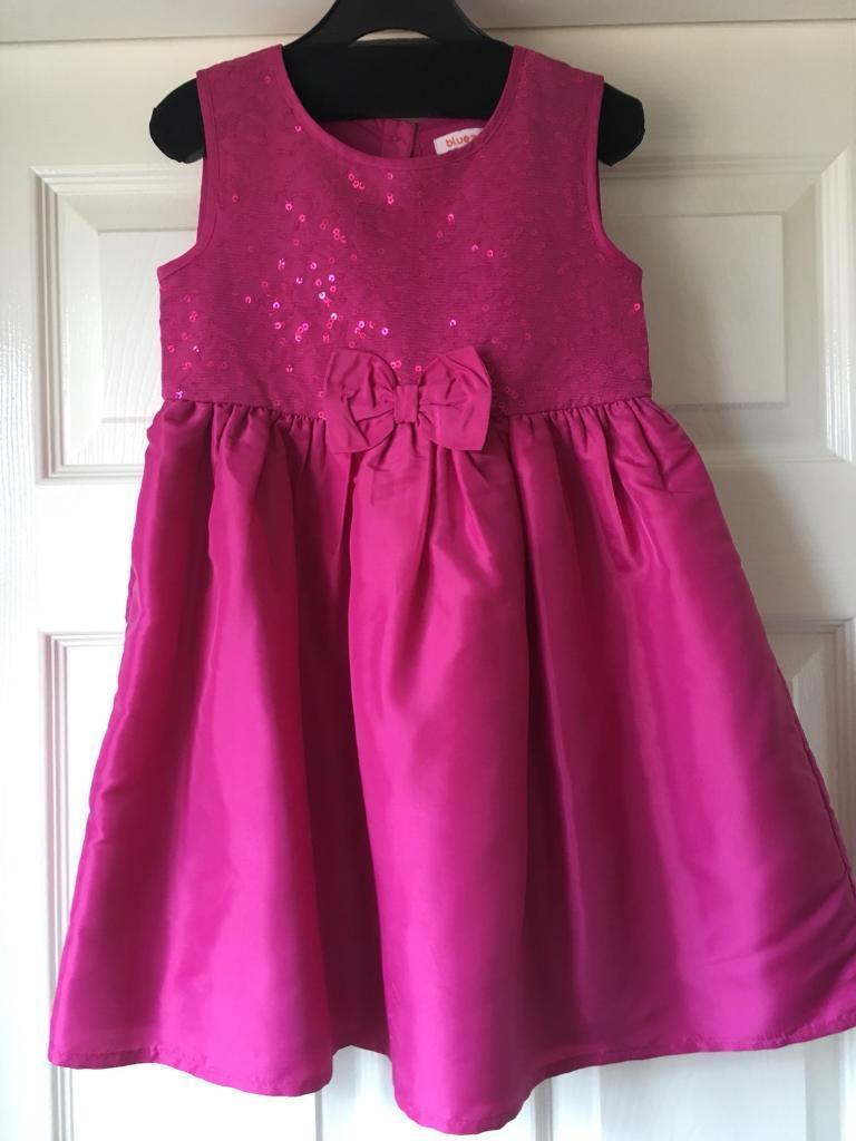Debenhams pink sparkle dress 4-5yrs