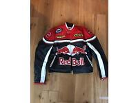 Red bull leather motorbike jacket - similar alpinestars, dainese