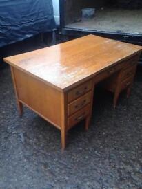 Desk oak solid