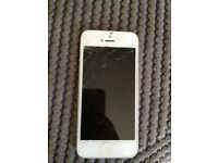 iPhone 5 with smashed screen