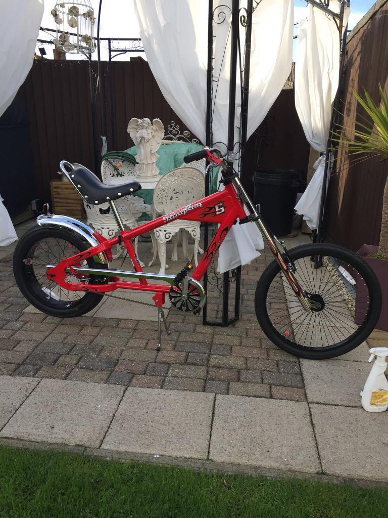 Like new red chopper bike!