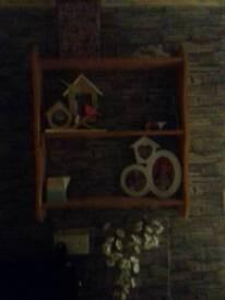 Wall wooden shelf shelving