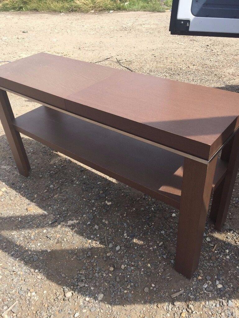 Natuzzi Walnut Side Console Table