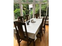 Lombok extending table and 6 chairs