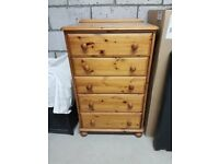Drawer chest Ducal Chest of five drawers in Pine